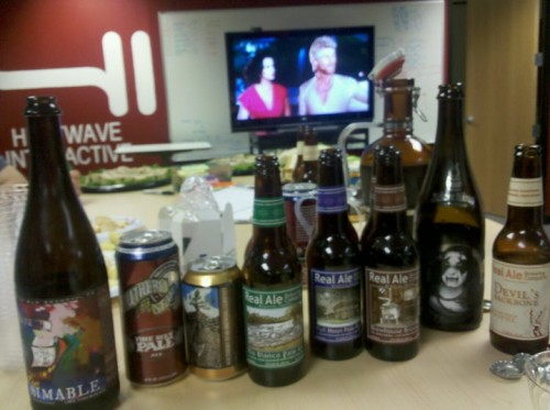 Beer Tasting at work, along with MEGAFORCE
