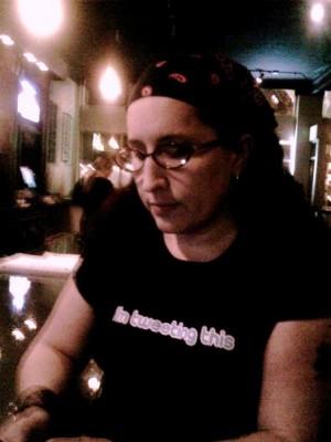 "I was tweeting this while wearing ""i'm tweeting this"" tshirt."