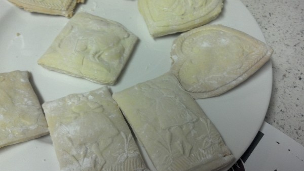 Different dough thickness resulted in different size cookies.